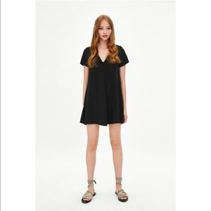 Zara BNWT black shift dress (XS)